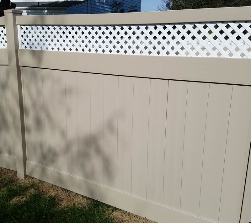 Bedford Lattice Style Privacy Fence